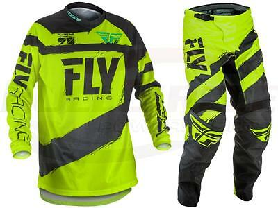Fly Racing Black/Hi-Vis F-16 Jersey & Pant Combo Set MX/ATV/BMX/MTB '18 Gear