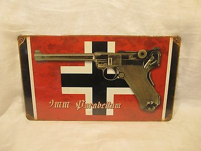 Imm Parabellum Luger - Vintage Look Reproduction Metal Sign