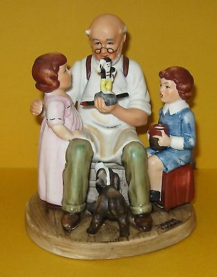Mint Vintage 1980 Norman Rockwell The Toymaker Figurine