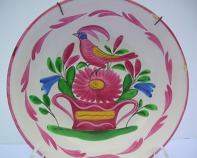 Antique FRENCH FAIENCE/St. Clement Style Bowl Rooster/Chanticleer