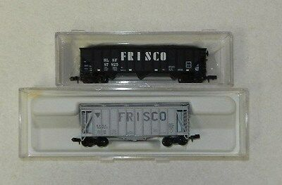 2 x Atlas N Scale 'Frisco' Freight Cars