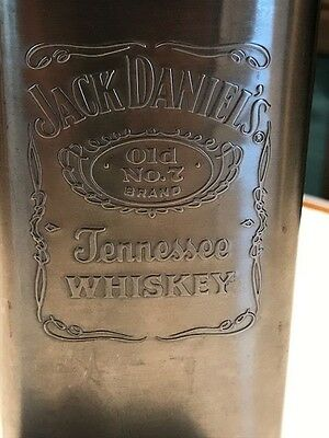 Jack Daniels Old No 7  Five Ounce Whiskey Stainless Steel Flask