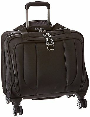 Delsey Luggage Helium Cruise Spinner Trolley Tote, Black, One Size Carry-On
