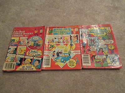 Lot of 3 Archie Digests, Joke Book Annuals