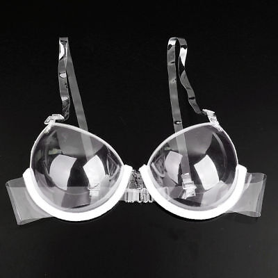 3/4 Cup Transparent Clear Push-up Bra Strap Invisible Bras Women's Underwire