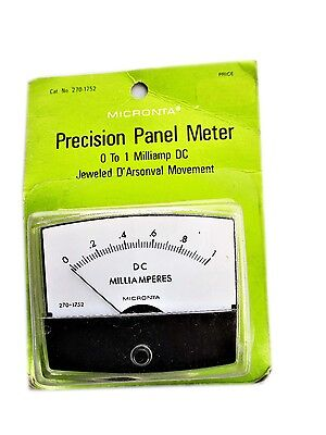 Micronta 0-1 mA DC Precision Panel Meter  270 1752  New Old Stock