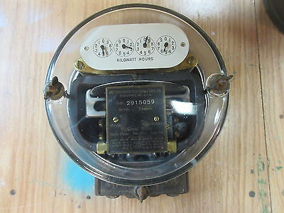 antique westinghouse watthour meter type OA 5 amp steampunk art decor year 1917