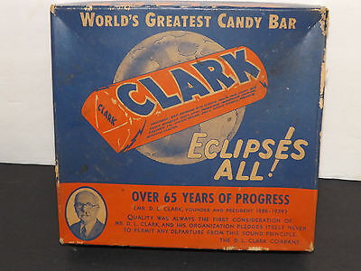 Vintage Clarks Candy Bar Box