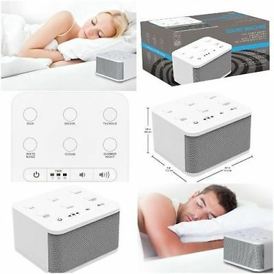 White Noise Baby Sound Spa Relax Machine Nature Babysitting Therapy Sleep Night