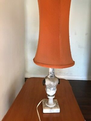 Vintage White Marble Table Lamp