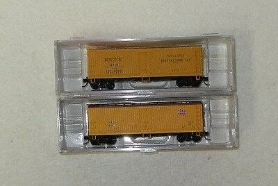 2 x InterMountain N Scale MidWestern Roads 40' Refrigerator Cars