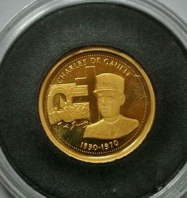 France Or Pur 999,9 /gold Charles De Gaulle 0,50G