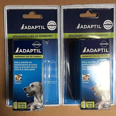 Lot De 2 Spray 20ml Adaptil Anti Stress Pour Chien
