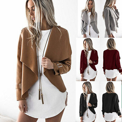New Women Long Cardigan Loose Sweater Sleeve Knitted Outwear Jacket Coat USA