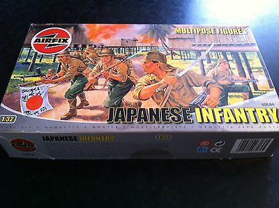 Airfix 1/32 Wwii Japanese Infantry Plastic Model Kit Figure Set - Must See