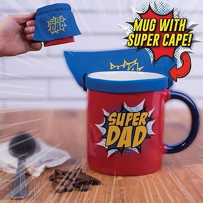 Super Dad Coffee Mug With Cape Fathers Day Gift Superhero Dad Father Funny New