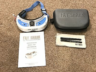 Fat Shark Dominator V2 Goggles - With cooling fan