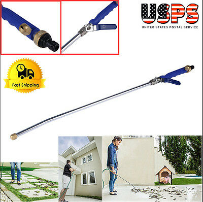 "Garden Hose High Pressure Spray Wand Power Washer &Brass Twist Nozzle Car 31"" SK"