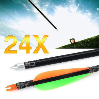 "32"" Heavy Duty Fiberglass Arrow For Compound Recurve Archery Bow Target Shooting"