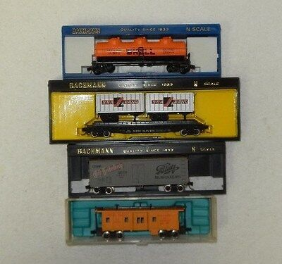 4 x Various Makers N Scale Random Roadnames Freight Cars #2