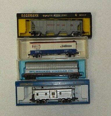 4 x Various Makers N Scale Random Roadnames Freight Cars #3