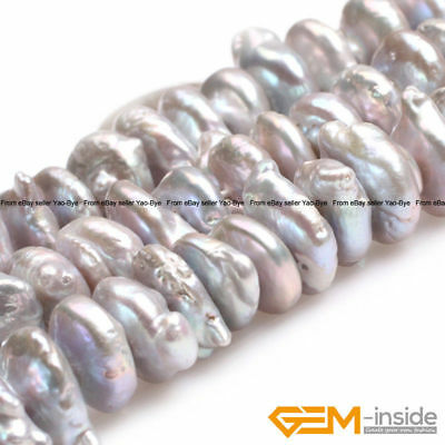 """Natural Freshwater Cultured Pearl Coin Spacer Beads For Jewelry Making 15""""Strand"""