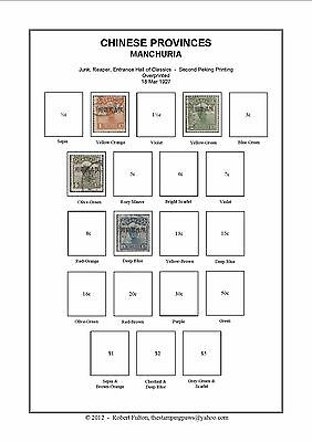 CHINESE PROVINCES  Print Your Own Stamp Album 1949