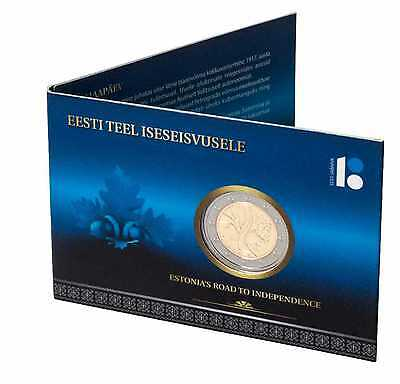 Estonia 2017 Commemorative Road to Independence 2 Euros Coin Card UNC