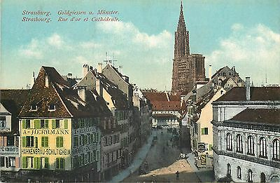 67 Strasbourg Rue D'or Et Cathedrale - Facade A. Herrmann