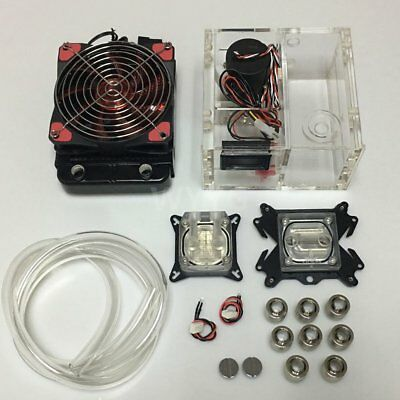 Combo Dual Bay Reservoir Pump + Radiator Complete Kit for Water Liquid Cooling R