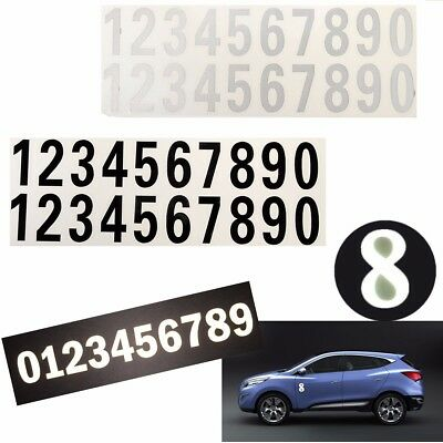 Street Address Mailbox Number Car Vinyl Adhesive Reflective Stickers White Black