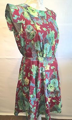 Ladies Max C London Skater Floral Dress Size 12 Brand New with Tags
