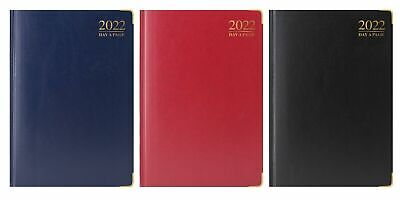 Tallon 2018 A4 Hardback Day a Page Diary 3188 - Red, Navy or Black