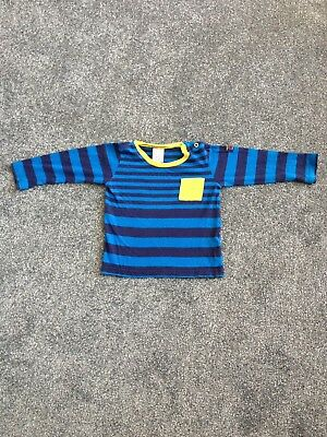 Polarn O Pyret Toddler Striped Top Long Sleeved T-shirt Blue 1-1.5 Years 12-18m