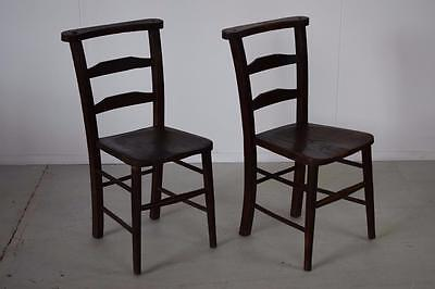 Antique Victorian Chapel Church Chairs (12 Available)