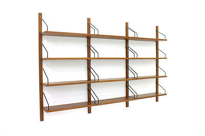 Teak Regal von Poul Cadovius Royal Cado shelf 1960s Wall System Denmark
