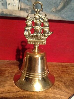 old brass hms victory bell.