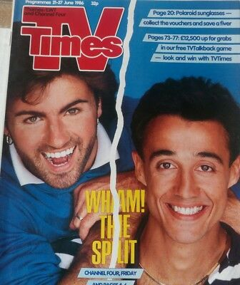 TV Times 21-27 June 1986 WHAM! cover