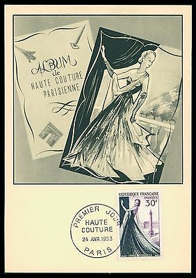FRANCE MK 1953 HAUTE COUTURE PARIS MODE FASHION MAXIMUMKARTE MAXI CARD MC cf11