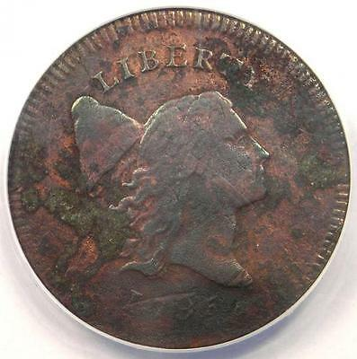 1795 Flowing Hair Liberty Cap Half Cent 1/2C Coin - ANACS XF40 Details (EF40)