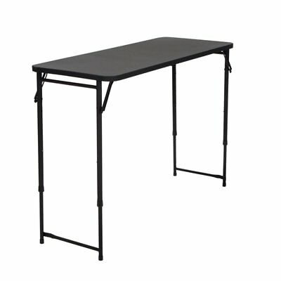 COSCO 20'' x 48'' Height Adjustable Folding Table in Black