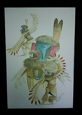 Fred Cleveland Navajo Artist Signed In Ink.  1984 Print? Or Painting?