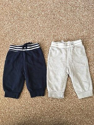 George Baby Boy Joggers Age 0-3 Months In VGC