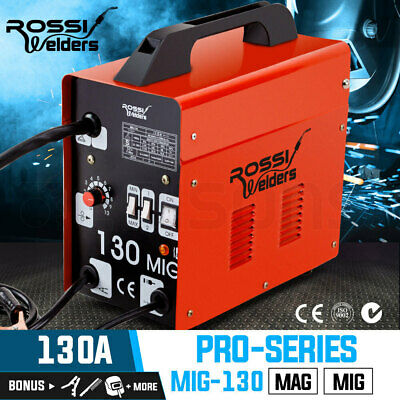 NEW ROSSI 130Amp MIG MAG Gas Gasless Welder Metal Inert DC Welding Machine Tool