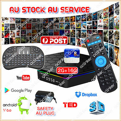 T95Z Plus Android 6.0 TV BOX Version 17.3 Media player 2/16G S912  + I8 Keyboard