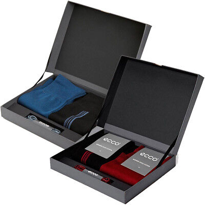 Ecco 2017 Mens Gift Box Luxury Premium Business Socks/Laces Gift Set - One Size