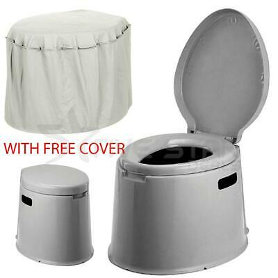 Portable Toilet Compact Potty Loo Camping Caravan Picnic Outdoor Cover Festival