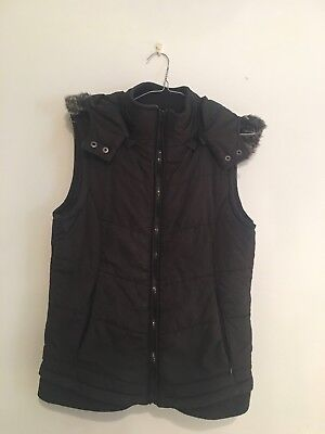 Puffer Vest - Black, Size Small