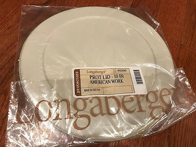 "Longaberger 40396 Protective Lid for 10"" Work Basket Protector, New"
