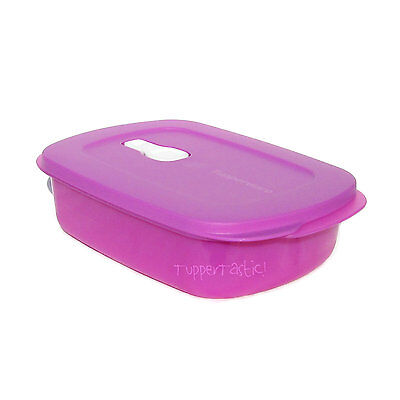 Tupperware Crystalwave Ezywave  Rectangle Vent n Serve Lilac Purple Microwave